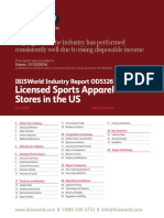 IBISWorld Industry Report Licensed Sports Apparel Stores in the US 2019