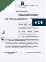 RECURSO DE RECONSIDERACIÓN DE LA UNPRG