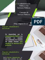La Admnistración Pública  y Concepto de servicios públicos