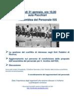 Assemblea ISS del 31.01.11 - La locandina