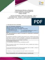 Guia de actividades y Rubrica de evaluación  - fase 1 - Presentación de los modelos instruccionales