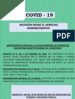 Covid y Derecho Administrativo