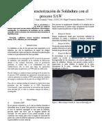 Análisis y Caracterización de Soldadura con el proceso SAW