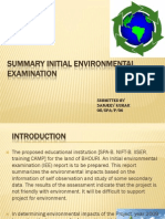 SUMMARY INITIAL ENVIRONMENTAL EXAMINATION