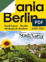 Urania Berlin Jahresmagazin 2020-2021 - StadtNatur - Berlin ökologisch denken