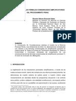 LEGITIMACIÓN DE LAS FORMULAS CONSENSUADAS SIMPLIFICATORIAS DEL PROCESAMIENTO PENAL