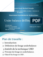 Under balance drilling