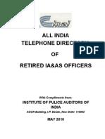 ALL INDIA IAS & IA Returied Telephone_Directory_2010