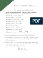 Lista 1 - Cálculo III