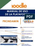 manual de uso de la plataforma  -PRONDAMIN ONLINE 2020