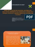Faiia Exposicion Especificaciones de Equipos, Materiales y Reactivos de Laboratorio