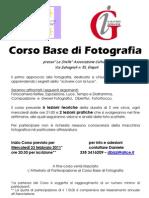 Volantino Corso Base Fotografia