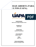 Investigaciony 6 de Derecho Procesal Civil II.