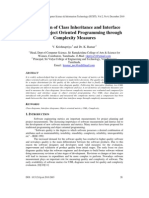 Comparison of Class Inheritance and Interface Usage in Object Oriented Programming through Complexity Measures