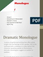 Dramatic Monologue and Irony