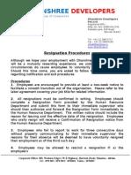 22.Resignation Procedures