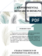 EXPERIMENTAL RESEARCH DESIGNS PPT