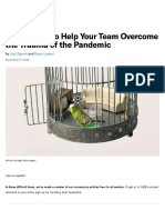 An Exercise to Help Your Team Overcome the Trauma of the Pandemic