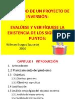 CONTENIDO DE UN PROYECTO DE INVERSIÓN
