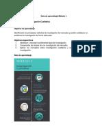 Guía aprendizaje Inv. Mercados Módulo 1