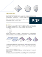 Types of Crystal Forms