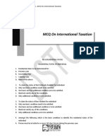 Chapter 26 MCQs on International Taxation (1)