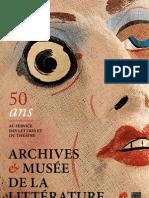 Brochure Archives et Musée de la littérature Belge