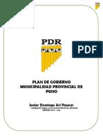 plan de gobierno pdr puno Peru
