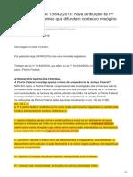 dizerodireito.com.br-Comentários à Lei 13642-2018 nova atribuição da PF para investigar crimes que difundem conteúdo misógi