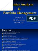 Securities Analysis and Portfolio Management