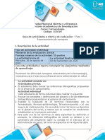 Guía de actividades y rúbrica de evaluación - Unidad 1 - Fase 1 - Reconocimiento de conceptos