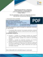 Guia de actividades y Rúbrica de evaluación -Pre-Tarea-Introducción a los procesos Aritméticos