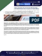 Comunicado 43 - Superservicios evalua actuación de personal de Electricaribe