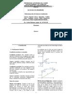 Informe deDeterminación de fuerzas resultantes
