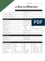 Handheld Analysis Worksheet