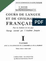 COURS DE LANGUE ET DE CIVILISATION FRANCAISES 1