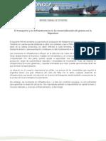 El transporte y su infraestructura en la comercialización de granos en la Argentina