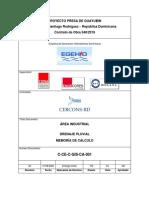 C-CE-C-GIS-CA-001-A0 Área Industrial, Drenaje pluvial - Memoria de cálculo[8164] rev 01