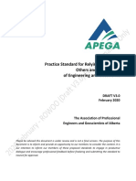 DRAFT-APEGA Practice Standard-Relying On the Work of Others_Feb2020