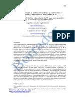 Apropiación de Tecnologías de La Información y La Comunicación (TIC) en El Ámbito Educativo_aproximación a La Política Pública en Colombia Años 2000_2019