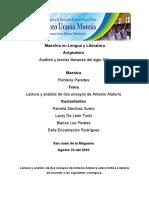Lectura y análisis de dos ensayos de Antonio Alatorre