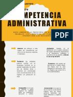 Competencia administrativa ( FELIPE GUERRERO )