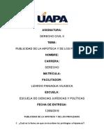 PUBLICIDAD DE LA HIPOTECA Y DE LOS PRIVILEGIOS