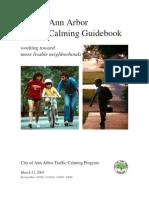 Ann Arbor Traffic Calming Guidebook