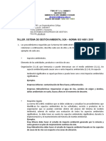 TALLER 1. NOVEDADES NORMA ISO 14001 VERSIONES 2004 Y 2015 SEM II.