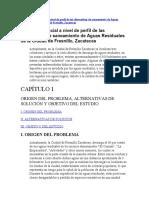 N° 5- Evaluación Social a nivel de perfil de las alternativas de saneamiento de Aguas Residuales de la Ciudad de Fresnillo, Zacatecas