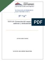 Formación del campo giratorio uniforme y deslizamiento.