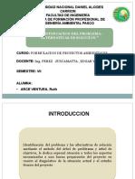 """""""IDENTIFICACION DEL PROBLEMA- ALTERNATIVAS DE SOLUCION """""""