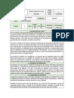 PROGRAMA DE CURSO ÉTICA PROFESIONAL