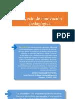 SESIÓN 2 - SEMANA 2- DIAPOSITIVA - Proyecto de innovación pedagógica